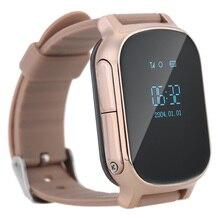 Smartphone Kinder Kid Armbanduhr GSM GPRS GPS Locator Tracker Anti-verlorene Smartwatch Kind Schutz für iOS Android