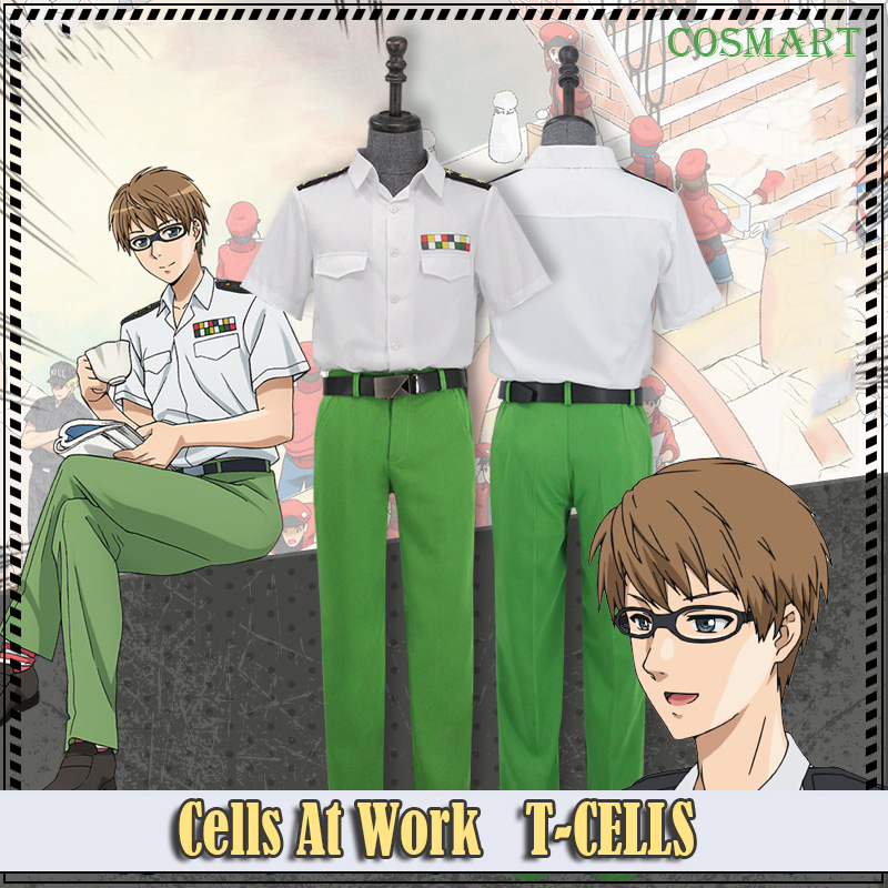 Amine Cells At Work T helper Cells T-CELLS Uniform Cosplay Costume Hataraku Saibou Cosplay For Halloween Carnival Freeship New