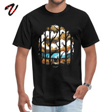 A Magical Place Casual Tops Tees Racoon Sleeve for Male 100% Han Solo Fabric Summer Autumn Round Collar T-shirts Cool Punk