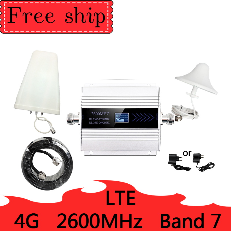 4G LTE 2600mhz Band 7 Cellular Signal Booster 2600mhz  Mobile Network  Data Cellular Phone Repeater  Amplifier 4G 2600 Gain 60db