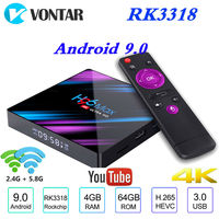 2019 TV Box Android 9.0 4GB RAM 64GB Rockchip RK3318 H96 Max 1080p 4K 60fps Google Play Store Netflix Youtube H96 MAX IPTV BOX