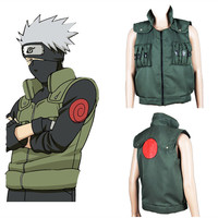 Anime Naruto Shippuden Costumes Hatake Kakashi Vest uniform NARUTO Adult man Stage party clothing Cosplay Halloween Costumes