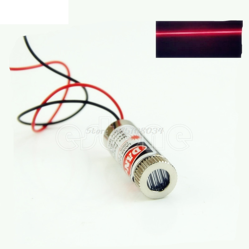 цена на 5mW 650nm Red Line Laser Module Focus Adjustable Laser Head 5V Industrial Grade S08 Drop ship