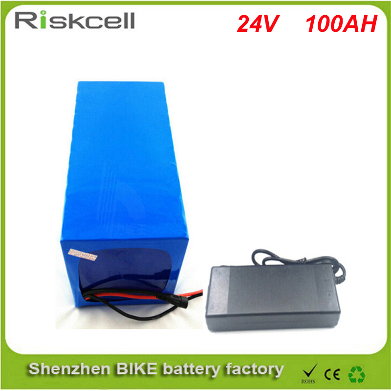 Free customs taxes DIY rechargeable lithium battery 24v 100ah lithium ion battery 24v 100ah li-ion battery pack +5A charger+BMS free customs taxes factory36 volt battery pack with charger and 20a bms for 36v 10ah lithium battery