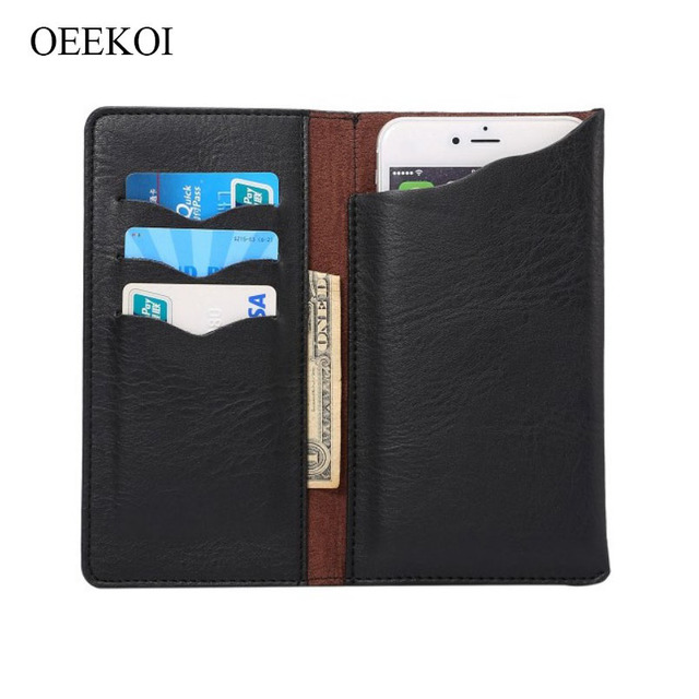OEEKOI Universal Elephant Pattern Leather Wallet Pouch Case for Essential Products PH-1 5.71 Inch