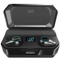 TWS T9 Bluetooth V5.0 Headset Wireless Earphones Stereo IPX7 Waterproof Earbuds Open The Cover And Get Rid Of The Manual