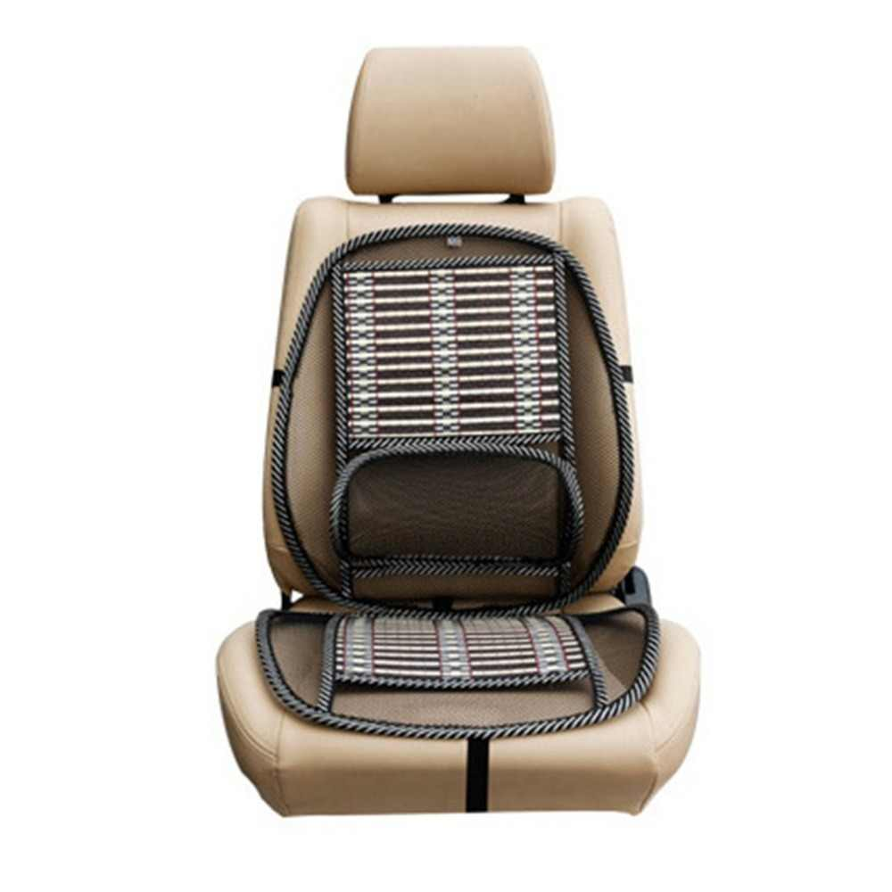 NewSummer Refrigeração Lombar Universal Coxim Da Massagem Do Carro Almofada Respirável Almofada Legal Pad Auto Fornecimentos Assento Fio Quente