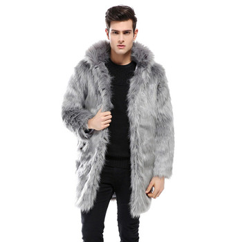 Winter Mens Faux Fox Fur Coats Thicken Warm Overcoat Mens Leather Jackets and Coats Plus Size L- 3XL children clothing 2018 winter boys jackets girls fur coats parkas warm kids faux fur jackets baby boy thicken warm hooded coats