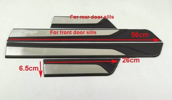 Higher star 4pcs car external door sills scuff footplate,decoration protecion plate for Honda CIVIC 2016-2018