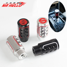 Newest Auto Manually Aluninum Head Gear Shift Knob Metal Lever Stick