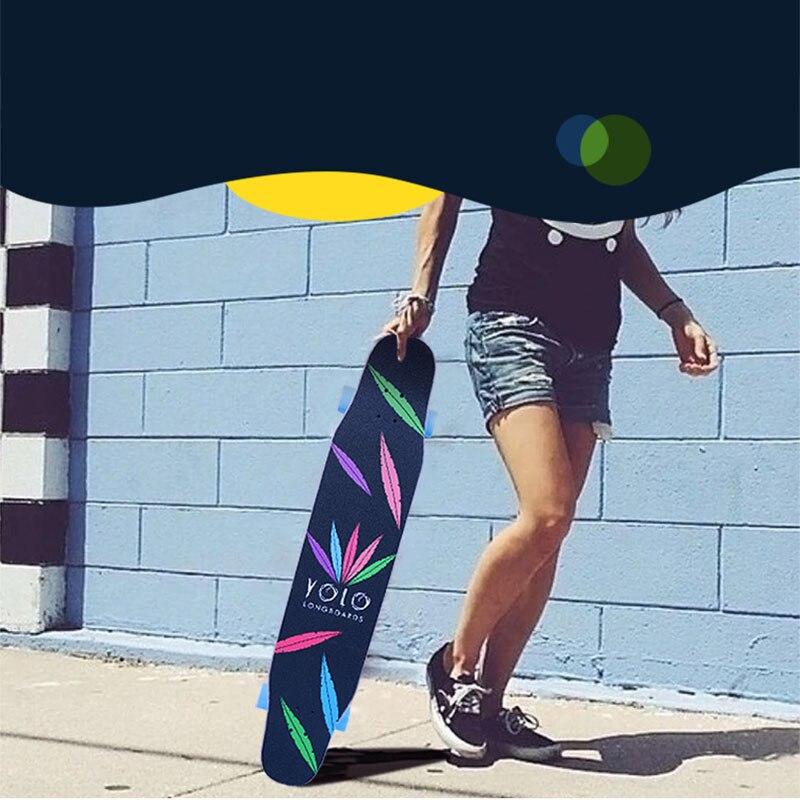 Professionnel de Planche À Roulettes D'érable Canadienne Lonboard planche de skate 4 Roue Descente Rue De Danse Conseil de La Dérive de Rouleau-conseil 107 & 117 CM - 3