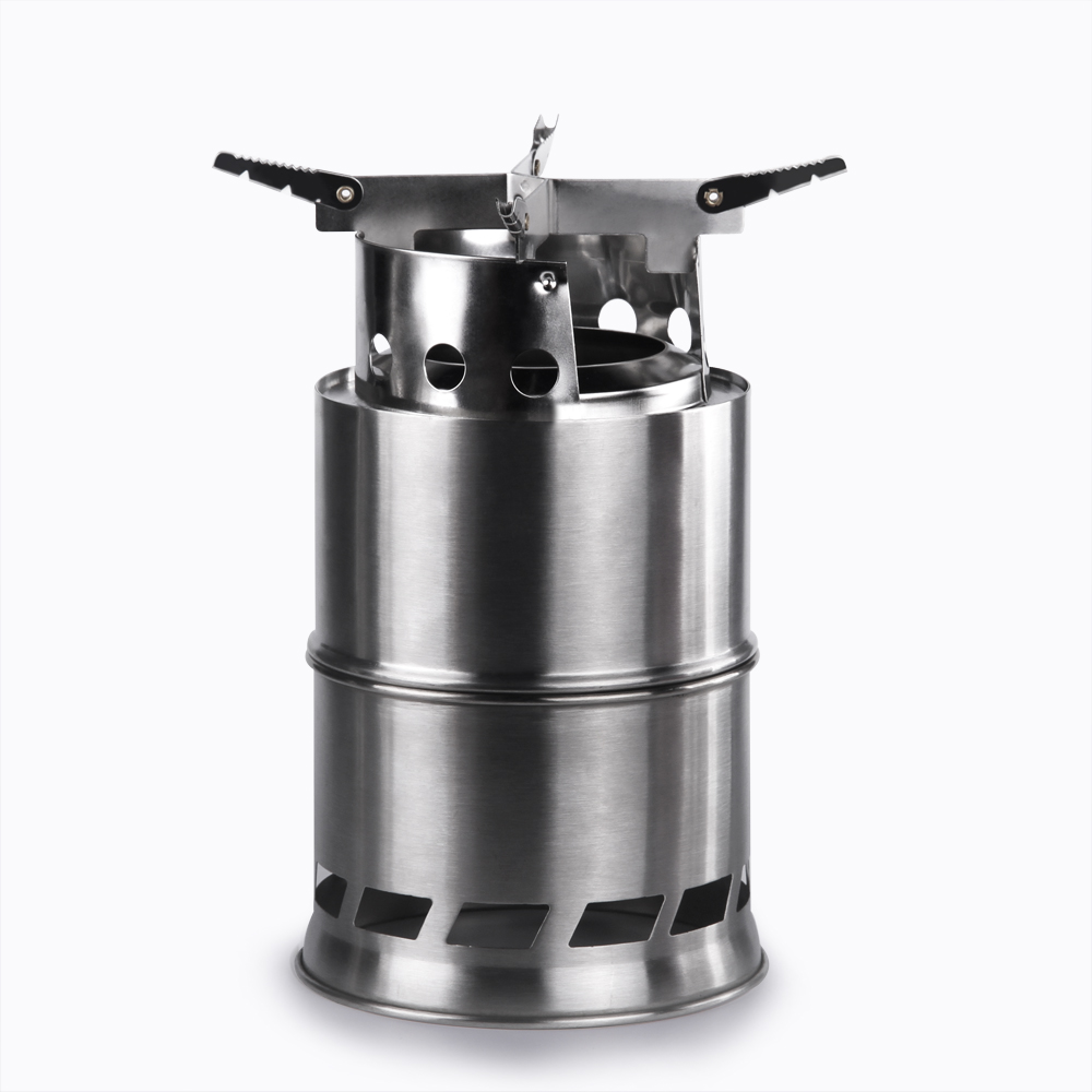 Outdoor Wood Gas Wood-Burning Stove Portable Folding Firewood Stove Multifunctional Camping Gasification Furnace image
