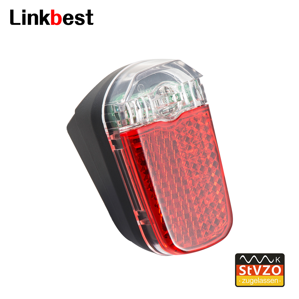 Linkbest Taillight LED Bicycle Light StVZO Approved, Waterproof IPX-4,6V-48V For Hub Dynamo And Ebike