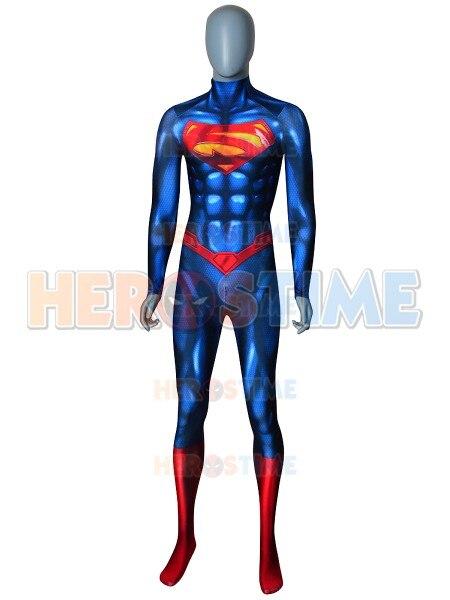 The New Superman Costume Zentai Shiny Superhero Cosplay Costume Custom Made Available