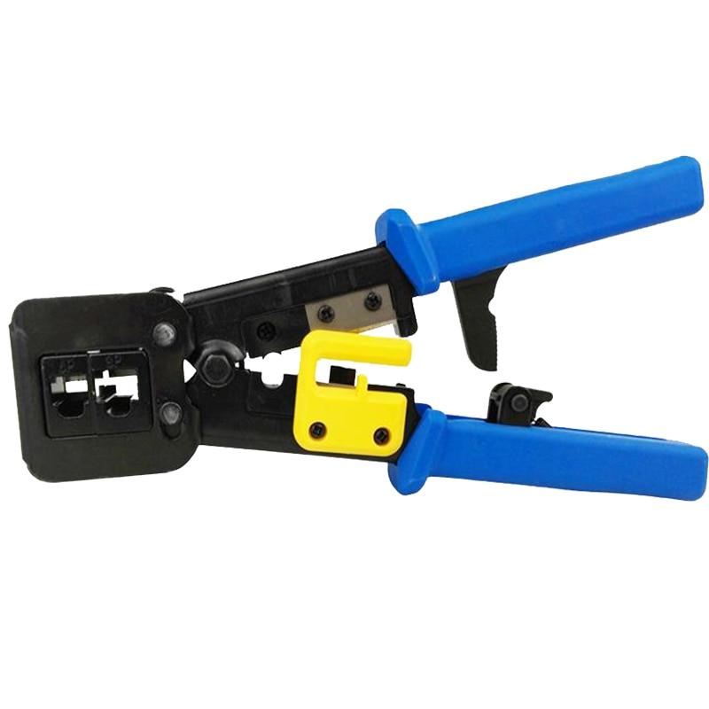 EZ rj45 crimper hand network tools pliers rj12 cat5 cat6 8p8c Cable Stripper pressing clamp tongs clip multifunction