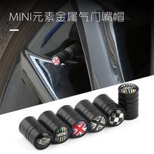 4pcs Car tire valve cover Wheel valve cap decoration stickers car styling for BMW MINI mini cooper R55 R56 R60 R61 F countryman цена