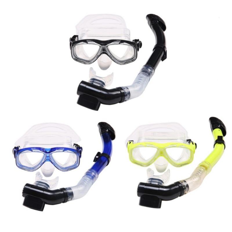 Snorkeling Set Liquid Silicone Scuba Diving Equipment Dry Snorkel 202+S14 Men Women Diving Swimming Water Sports Equipment