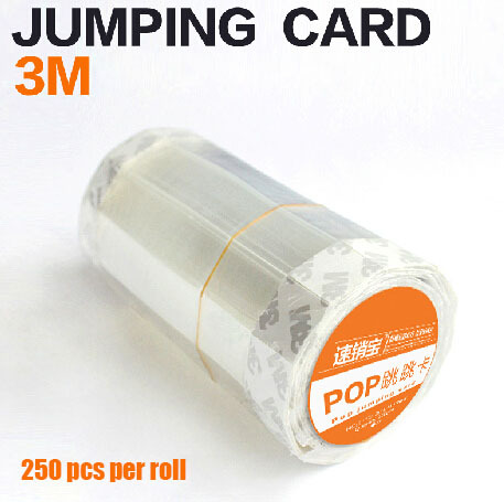 2*14cm POP Advertising tag transparent adhesive PVC strip Shelf Wobbler Jumping card label holder clear acrylic a3a4a5a6 sign display paper card label advertising holders horizontal t stands by magnet sucked on desktop 2pcs