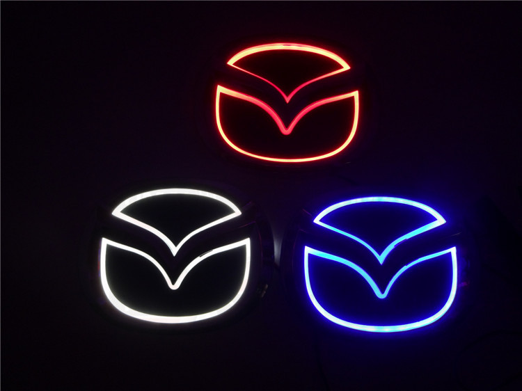 2015 New brightness auto 5D Logo Light mazda led badge sticker lamp led emblem 5d for mazda 6 2 3 8 cx7 new arrival 3d logo car light led cold light emblem for mazda6 mazda2 mazda3 mazda cx7 car sticker auto badge