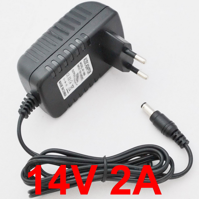1 шт., адаптер для преобразователя, 14 в, 2 А, 100-240 В переменного тока