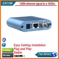 EA512 BNC Ethernet extends the 100M Ethernet signal as far as 1500 meters through a Cat 5/5e
