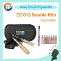 Cigarrillo electrónico Ego-q Doble Kits ego Q batería cigarrillo electrónico CE4 Atomizador líquido para cigarrillo electronique ego Q 50 unids/lote