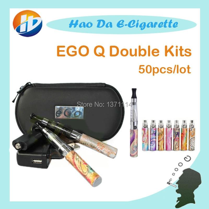 E font b Cigarette b font EGo Q Double Kits ego Q battery CE4 font b