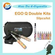 บุหรี่อิเล็กทรอนิกส์อาตมา-Qชุดคู่อาตมาQแบตเตอรี่CE4บุหรี่อิเล็กทรอนิกส์ของเหลวเครื่องฉีดน้ำสำหรับอาตมาQบุหรี่ไฟฟ้า50ชิ้น/ล็อต