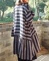 Lançamento do produto na primavera de 2017, o projeto original solto big yards 100% algodão tecidos muito bom ms camisa de linho