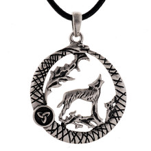 Wolf in Coil Snake Pendant Necklace Men Wolf Triangle Necklace Drop Shipping(China)