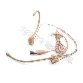 Xgwth 3pin Mini XLR 3-Pin TA3F plegable Headworn micrófono condensador para AKG Samson transmisor inalámbrico Body-Pack