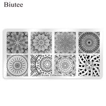 Biutee Nail Stamping Plates Rose Flower Nail Template Mandal