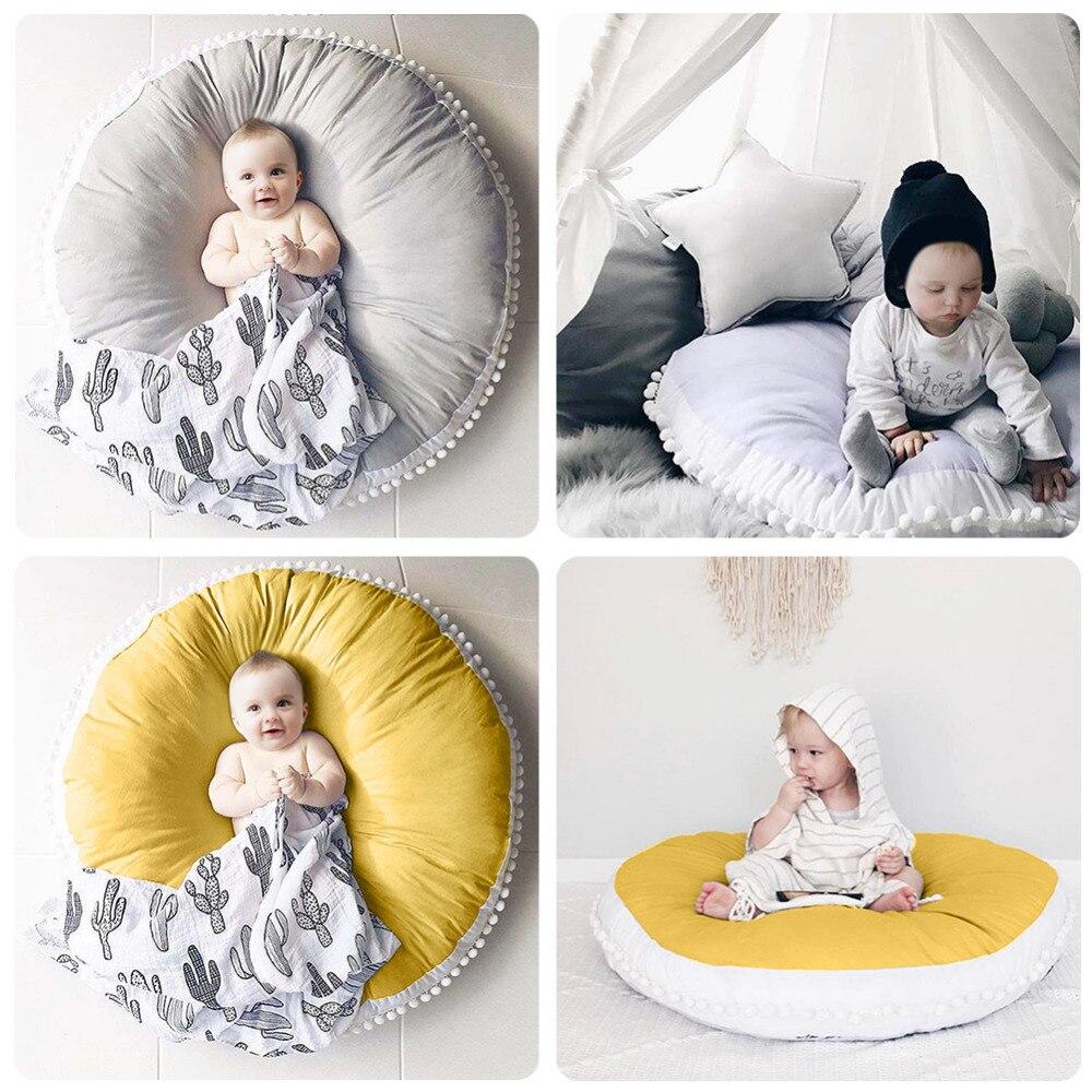 Pur coton bébé tapis de jeu épaissi doux enfants tapis bébé ramper jouer jeu Pad de décoration de chambre d'enfants