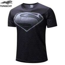NEW TUNSECHY 2018 Marvel Captain America 2 Gray superman Super Hero T s
