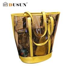2016 sommer strandtasche Berühmte marke exquisite Mode pu-leder Frauen tasche Transparent Schulter handtasche Damen tragetaschen