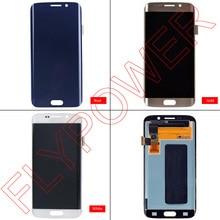 Untuk Samsung Galaxy S6 Ujung G925 G925f lcd display dengan layar sentuh digitizer perakitan dengan pengiriman gratis; 100% garansi