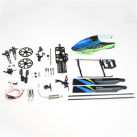 20pcs/set 4CH Toy Chassis Cover RC Helicopter Accessories Gear Kit Motor Main Fan Blade Metal Aircraft Shell For WLtoys V911S