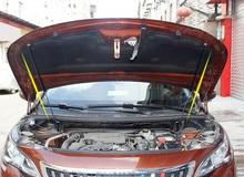 Cubierta de capó de acero inoxidable para coche Peugeot, barra hidráulica telescópica de puntal, soporte de elevación de capó de motor, 2 uds., para Peugeot 3008 5008 GT 2017 2018 2019
