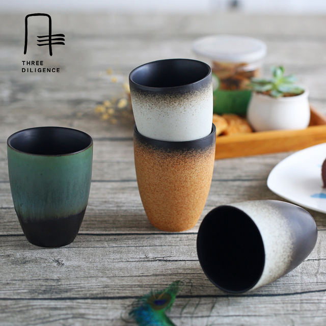 Office Coffee Mug Pottery Chinese Milk Tea Cup Beer Cupugs An Style