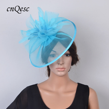 New Arrival. Light blue Crin Fascinator Feather sinamay hat for Melbourne cup,Wedding,Races,Derby passenger melbourne