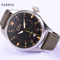 Parnis watch 47mm power reserve luminous hands sandwich case Automatic movement Men's watch