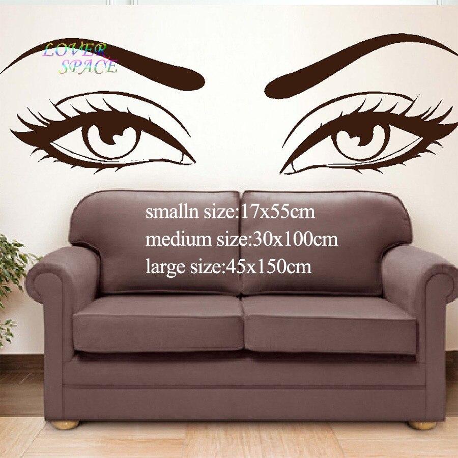 Eyes wall stickers wow modern beauty salon valentine wall decoration - Getsubject Aeproduct Getsubject