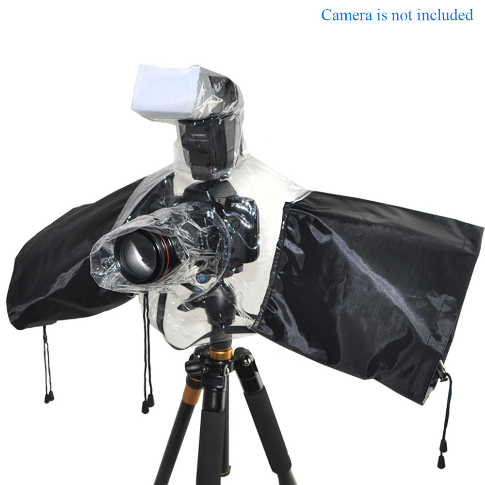 Waterproof Camera Flash Protector Rainproof Rain Dust Cover for Canon EOS Nikon Sony Pentax Olympus Fuji DSLR SLR