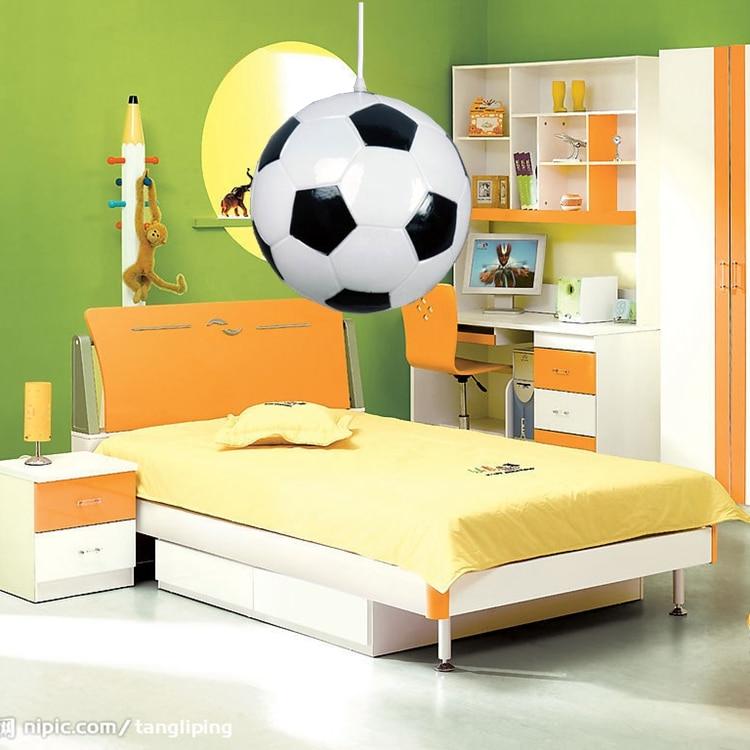 ФОТО Modern Minimalist Football Chandeliers Creative Children Bedroom Lamp Chandelier Lamp Light Fixtures Basketball Modern Lighting