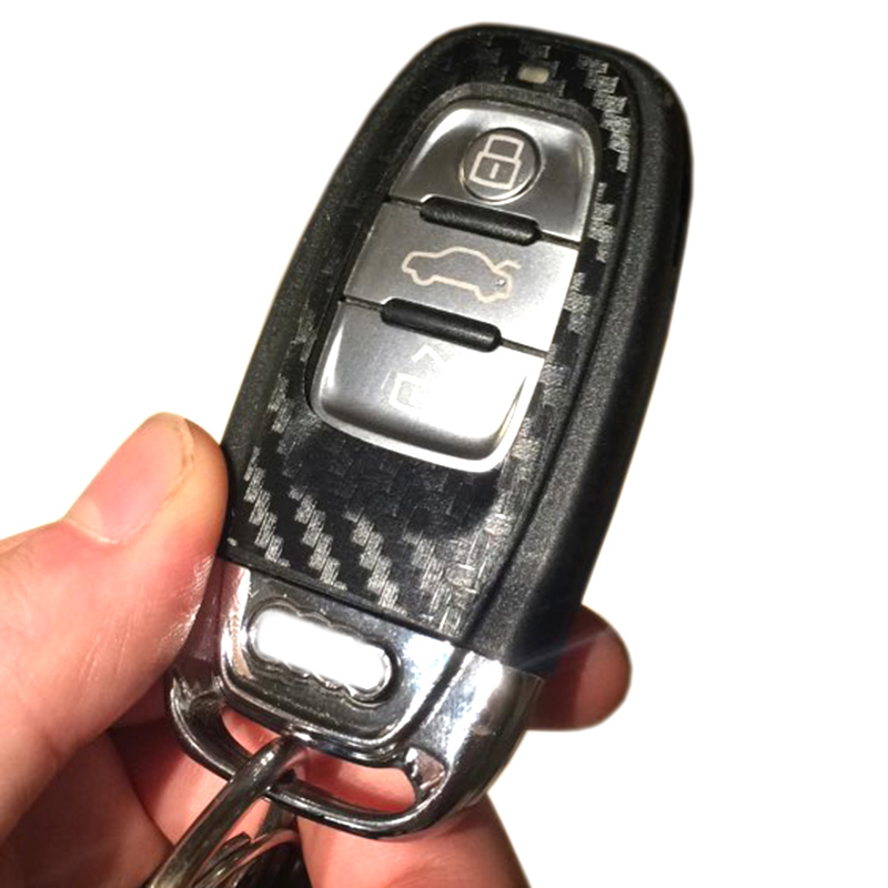 Image 5 - 1Set Black Carbon Fiber Car Key Sticker for Audi A4 A6 RS4 A5 A7 A8 S5 RS5 8T Q5 S5 S6 Car Key Refitting Accessories-in Car Stickers from Automobiles & Motorcycles