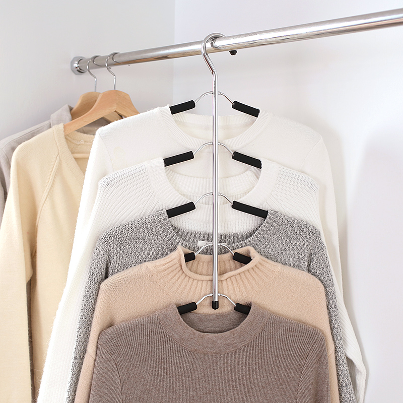 Hanger Rack Shawl Cloth Closet Multifunctional hanger seamless slip-resistant clothes hanging household multi-layer clothes64476