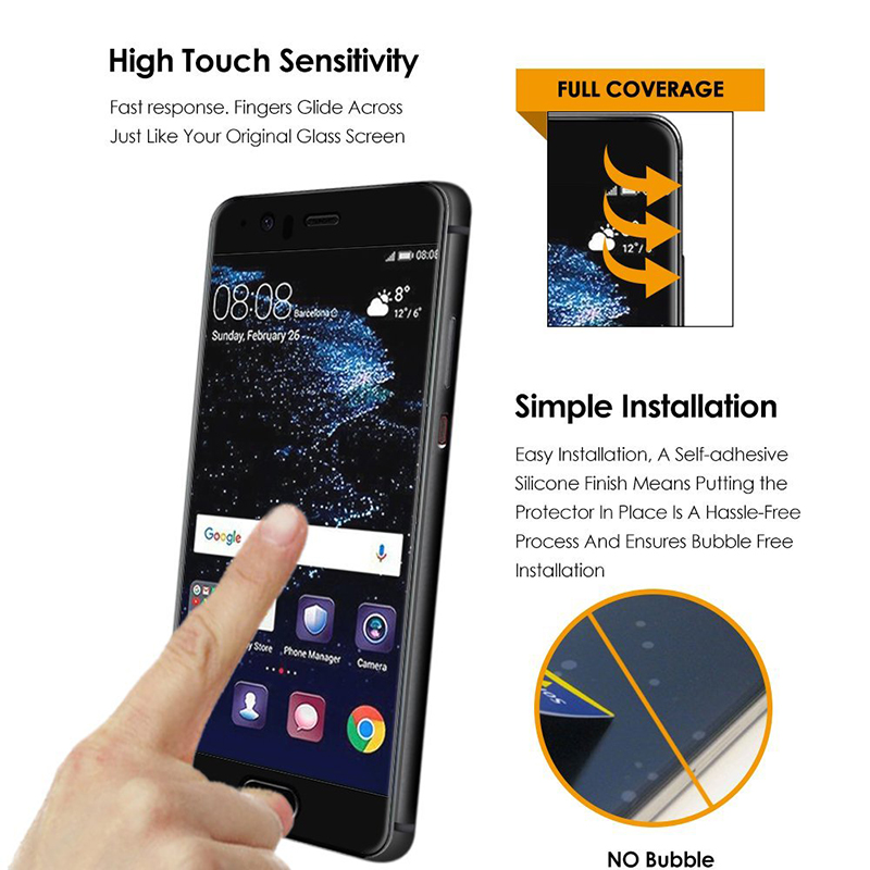 Suntaiho Ultra Thin Tempered Glass Film for Huawei P10 plus 9H HD Full Cover Screen Protector protective film for Huawei P10