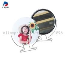 100 мм 100 наборы чистое зеркало компоненты пуговиц, DIY зеркало значок запчасти