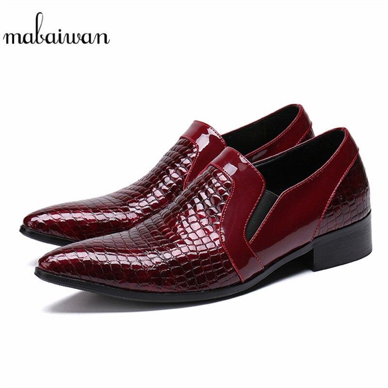 Toe Respirável Festa Mabaiwan Italiano Sapatos Casamento De Vermelho Homens Flats Couro Masculino Apontou Vestido Sapatas Chaussures Do Dos Casuais 6dqBwUAqpx