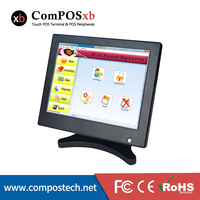 15 Inch TFT LED Touch Screen All In One POS Computer System For Restaurant Pizza Shop